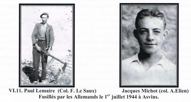 Paul Lemaire fusillés par les Allemand 1 juillet 1944