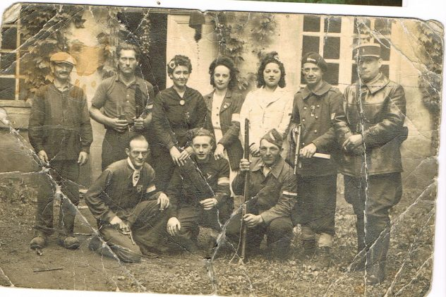 Ma grand mère Fernande Lemaire à la libération 1944